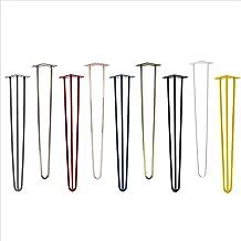 4x Natural Goods Berlin Hairpin Leg tafelpoten, 12 mm staal, vele kleuren, alle maten, 71 cm/3 baleinen (antiek goud)