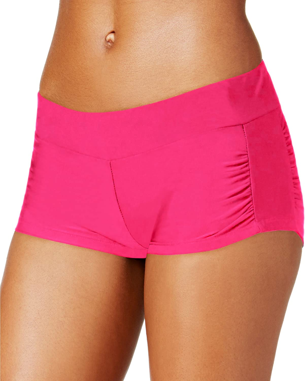 Hula Honey Women's RuchedSide Swim Shorts