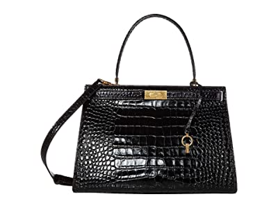 Tory Burch Lee Radziwill Bag (Black) Handbags