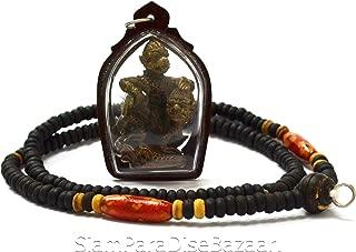 Thai Jewelry Amulets Necklace Pendant Hanuman Lp Kalong Wat Kaolaem Lucky Life Protection Magic