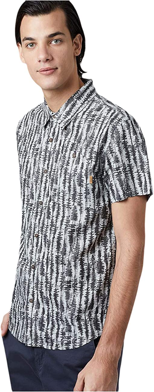 High-Rise Grey/Tree Stripe All Over Print