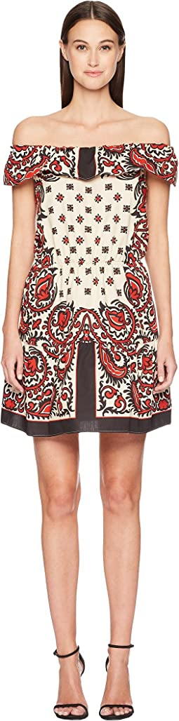 Cotton Poplin Medium Bandana Print Dress