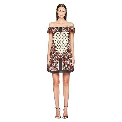 RED VALENTINO Cotton Poplin Medium Bandana Print Dress (Cherry) Women