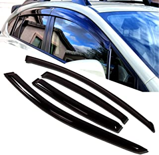 TuningPros WD-437 Tinted Smoke Out-Channel Window Visor Deflector Rain Guard 4-pc Set