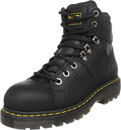 Dr. Martens Mens Ironbridge St Lace Low Boot, UK: 11 UK, Black Industrial Grizzly