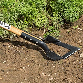 Lanco Tools Push Pull Hoe V Blade for Deep Roots and Better Cultivating USA Made