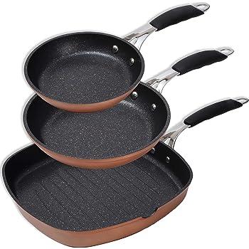 BERGNER PK1627 Set De Sartenes, Aluminio Forjado, Copper: Amazon.es: Hogar