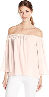 French Connection Women's Summer Crepe Light Off The Shoulder Top