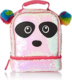Magic Sequin 2 Way Panda Critter Rainbow Pom Lunch Box