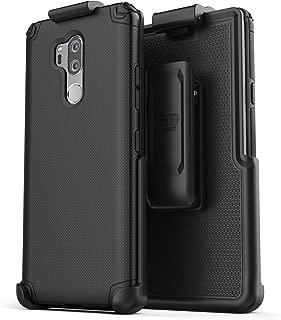LG G7 ThinQ Belt Clip Case, Encased (Nova Series) Slim Grip Case with Holster for LG G7 Phone 2018 (Black)