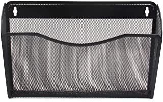 EasyPAG Mesh Collection Single Pocket Wall File Holder Hanging Mount Organizer,Black
