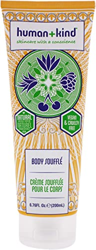 Human+Kind Body Souffle | Lightly Whipped Cream Moisturizer is Quickly Absorbed | Great for Dry or Eczema-Prone Skin ...