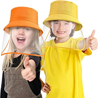 2 Pieces Hats for Kids, Dustproof Sunhat Cotton Fodable Sun Hats Fishing Hat