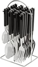 Avanti 16721 24 Piece Hanging Cutlery Set with Wire Frame, Black