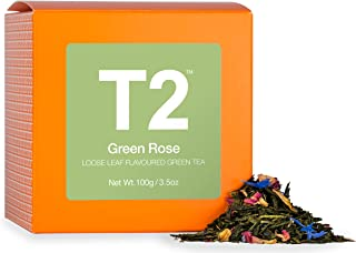 T2 Tea - Green Rose Green Tea, Loose Leaf Tea in a Box, 100g (3.5oz)