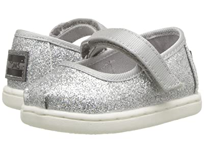 TOMS Kids Mary Jane (Infant/Toddler/Little Kid) (Silver Iridescent Glimmer) Girls Shoes