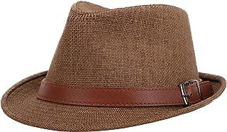 Men/Women's Classic Short Brim Miami Beach Panama Fedora Straw Hat