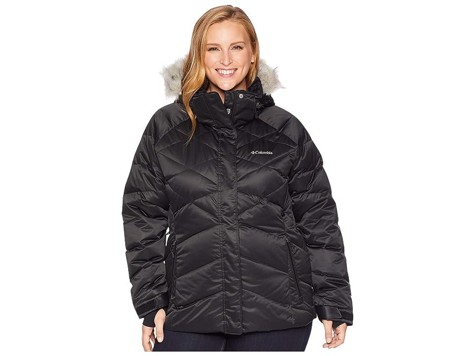 Columbia Plus Size Lay D Downtm II Jacket (Black Satin) Women