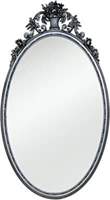Home D/écor Oval with Scallop Edge Multicolor 1ct Darice 1635-82 Mirror 8 x 10