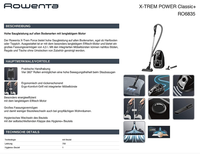 Tube daspirateur t/élescopique pour Rowenta RO6835 EA X-TREM Power