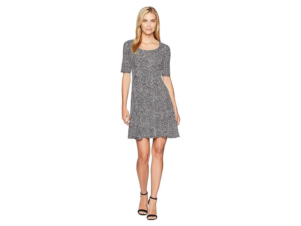 Karen Kane Pencil Sleeve A-Line Dress (Print) Women