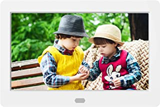 7 Inch Digital Photo Frame, NAPATEK Digital Picture Frame 1280x800 IPS Display Electronic Picture Frame 1080P HD Video Playback with USB SD Port Music Calendar Alarm Remote Control-White