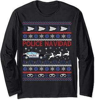 Police Navidad Ugly Christmas Sweater Design Shirt