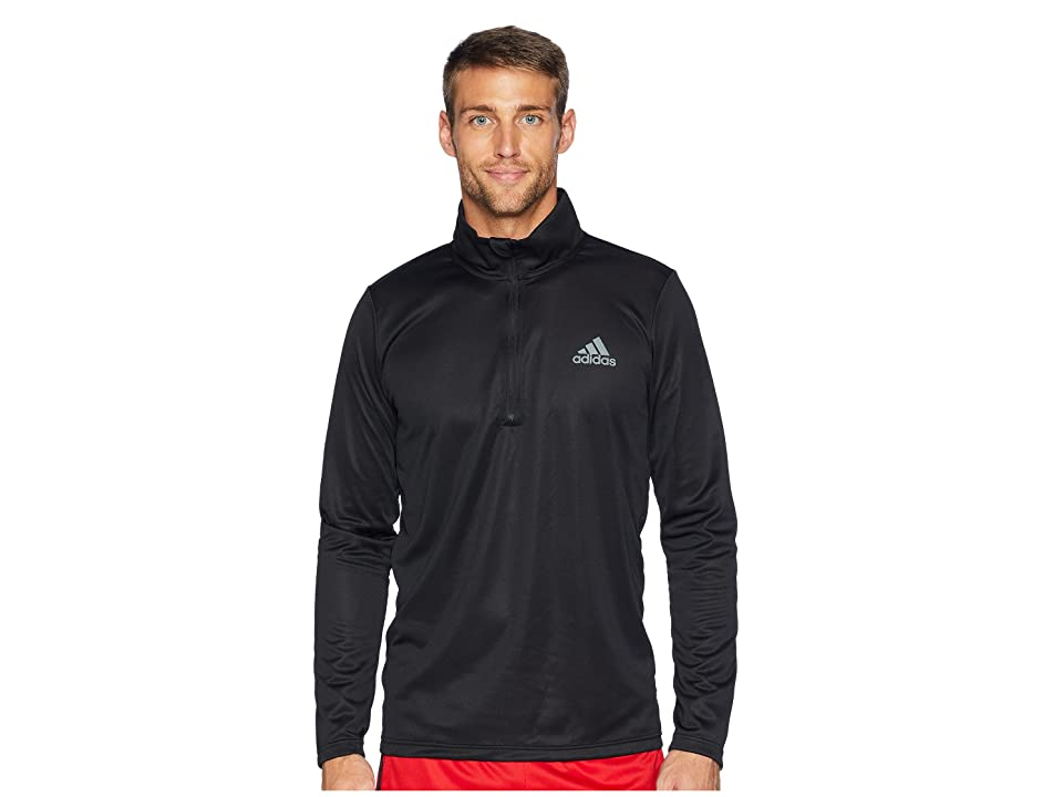 adidas Essentials Tech 1/4 Zip (Black/Black) Men's Clothing