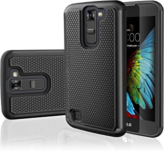 LG K7 Case, LG Tribute 5 Case,TILL [Resilient Series] Shock Absorbing Dual Layer Hybrid Rubber Plastic Impact Defender Rugged Slim Hard Case Cover Shell for LG Tribute 5 / K7 All Carriers [Black]