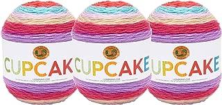 (3 Pack) Lion Brand Yarn 935-217 Cupcake Yarn, Cherry Blossom