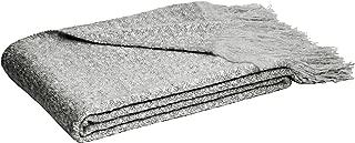 AmazonBasics - Manta con flecos de lana de Angora de imitación, Gris, 130 x 170 cm