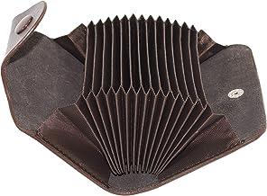 Storite 13 Slots Leather Credit Card Holder Case (Brown)