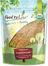 Organic Golden Flaxseed (Whole, Raw, Non-GMO, Kosher, Bulk) by Food to live — 8 Ounces