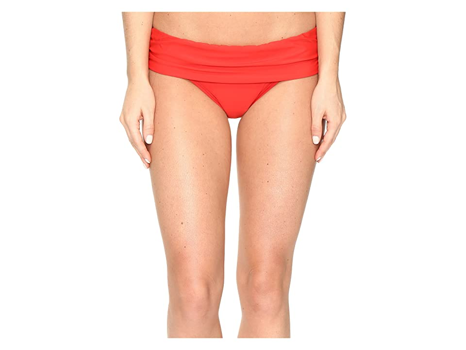 Athena Cabana Solids Lani Banded Bikini Bottom (Persimmon) Women