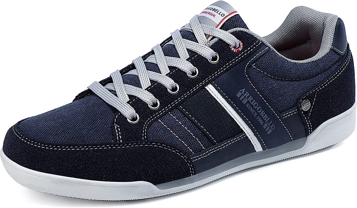 ARRIGO BELLO Mens Fashion Sneakers Casual Lightweight Lace Inventory cleanup selling sale Shoes Special price