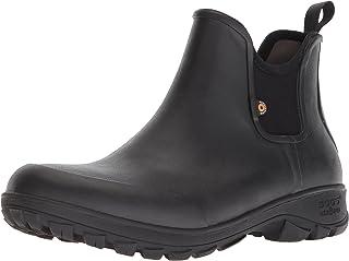 BOGS Men's Sauvie Slip on Low Height Chukka Waterproof Rain Boot