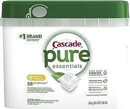 Cascade Pure Essentials Actionpacs Dishwasher Detergent, Lemon Essence, 58 Count
