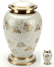 Golden Butterfly Cremation Urn Set for Human Ashes - Handcrafted Pearl Butterflies Adult Funeral Urn - Affordable Urn for ...