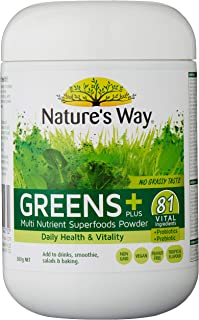 Nature's Way Super Foods Greens Plus, 300g, Tropical Flavor, 0.34 Kilograms