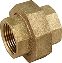 Everflow BRUN0100-NL 1 Inch Lead Free Brass Union For 125 Lb Applications, With Female Threaded Connects Two Pipes, Brass Construction, Higher Corrosion Resistance Economical & Easy to Install