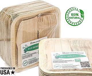 Party Pack vajilla ecológica de 150–50Desechables 8