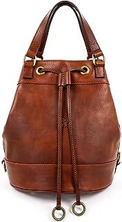 Time Resistance Leder Tasche Damen Beuteltasche Schultertasche Handtasche