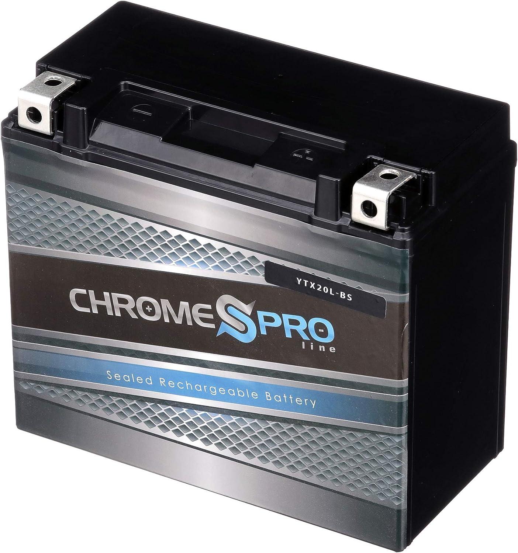 Chrome Battery Brand Cheap Sale Venue YTX20L-BS High - Sports Power shipfree Performance