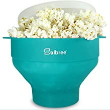 Original Salbree Microwave Popcorn Popper, Silicone Popcorn Maker, Collapsible Bowl BPA Free -18 Colors Available (Aqua)