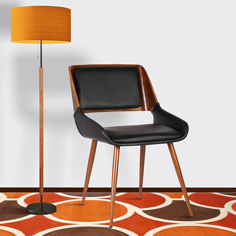 Armen Living Chalta Black Cheap bargain Outlet SALE Dining Chair