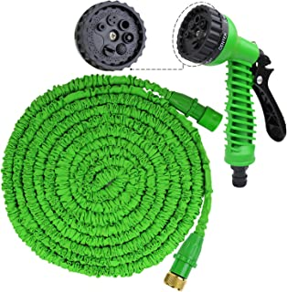 KYC 50ft Expandable Garden Water Hose Double Layer Latex Core Flexible Expanding Durable Extra Strength for Car Wash Cleaning Pet Watering Plants