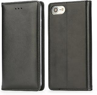 IPHOX Funda Compatible con iPhone SE 2020 / 7 / 8, Funda con Tapa Plegable Para Billetera con Tapa de Cuero con Ranura Para Tarjeta Magnética Para Apple iPhone 7 / iPhone 8 / SE 2020, Black / E