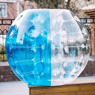 Anfan 1.2~1.5M Inflatable Bumper Ball 25.6 in Diameter Bubble Soccer Ball Transparent Material Human Knocker Ball for Adults and Child