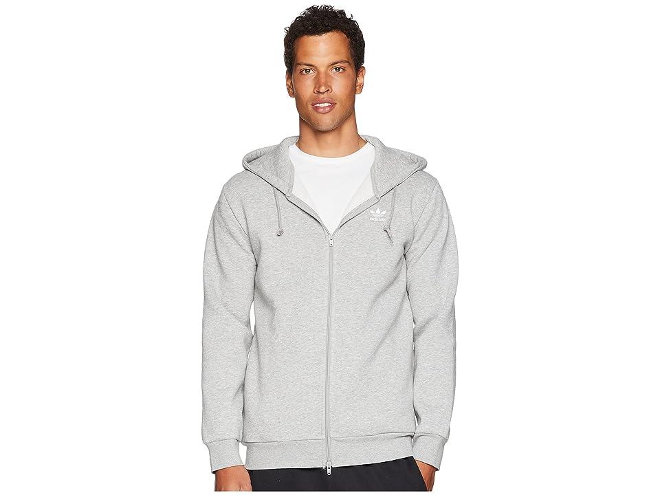 adidas Originals Trefoil Fleece Hoodie (Medium Grey Heather) Men