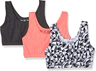 Fruit of The Loom Women's Built-Up Sports Bra 3 Pack Bra